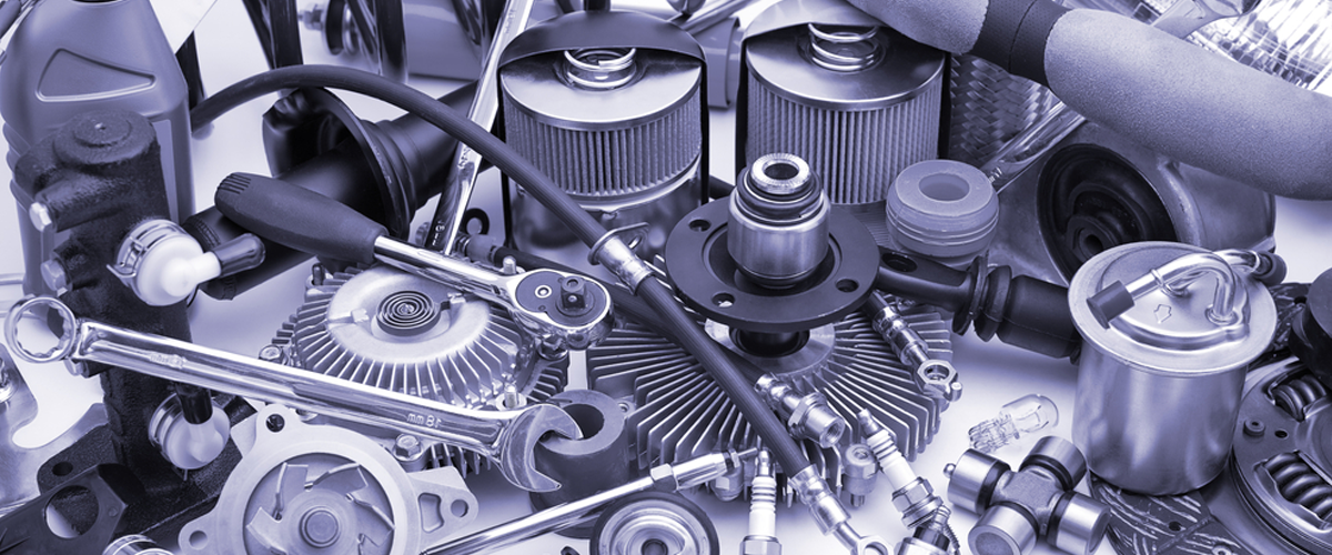 Automotive engine parts and mechanic's tools