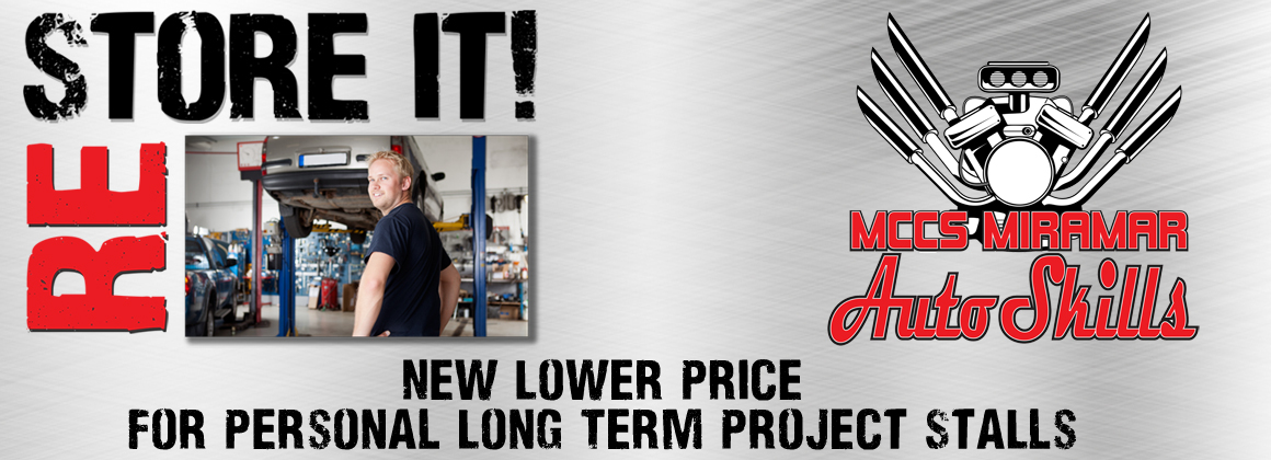 MCCS Miramar Auto Skills - New lower price for personal long term project stalls