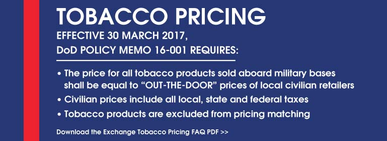 TOBACCO PRICING IN MARINE CORPS EXCHANGES