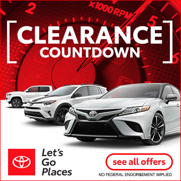 Toyota Clearance Countdown